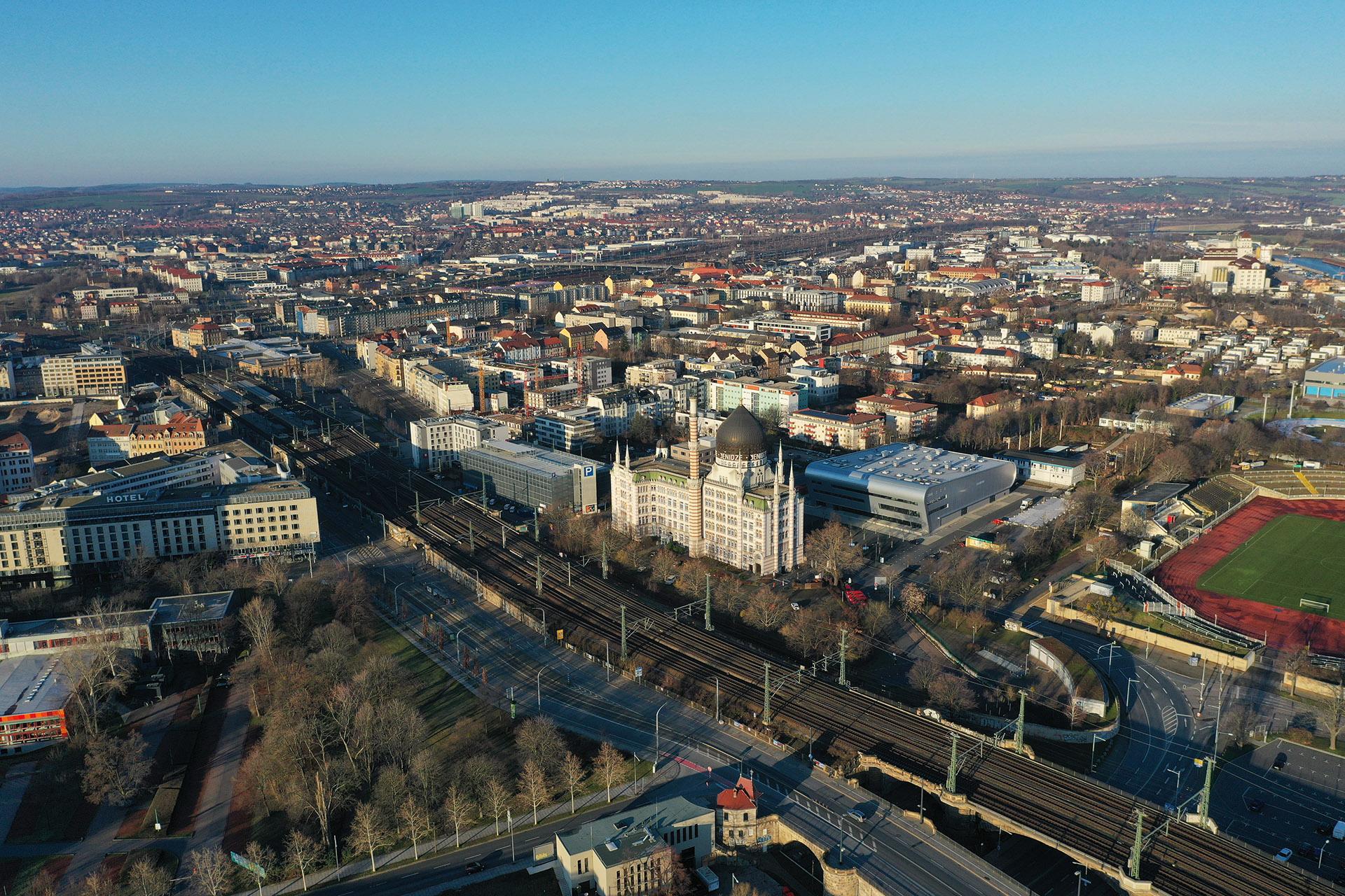 Dresden am Morgen - Blick Richtung Westen